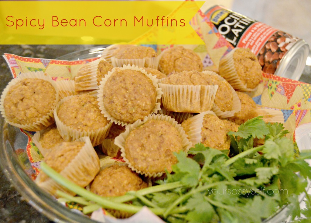 Bushs Spicy Bean Corn Muffins-yoursassyself.com