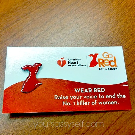 Go Red Pin - yoursassyself.com