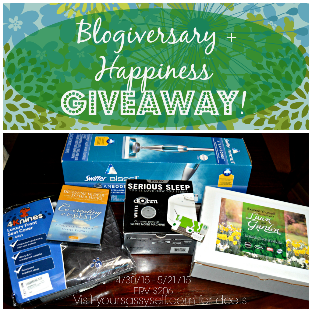 Blogiversary n Happiness Giveaway - yoursassyself.com