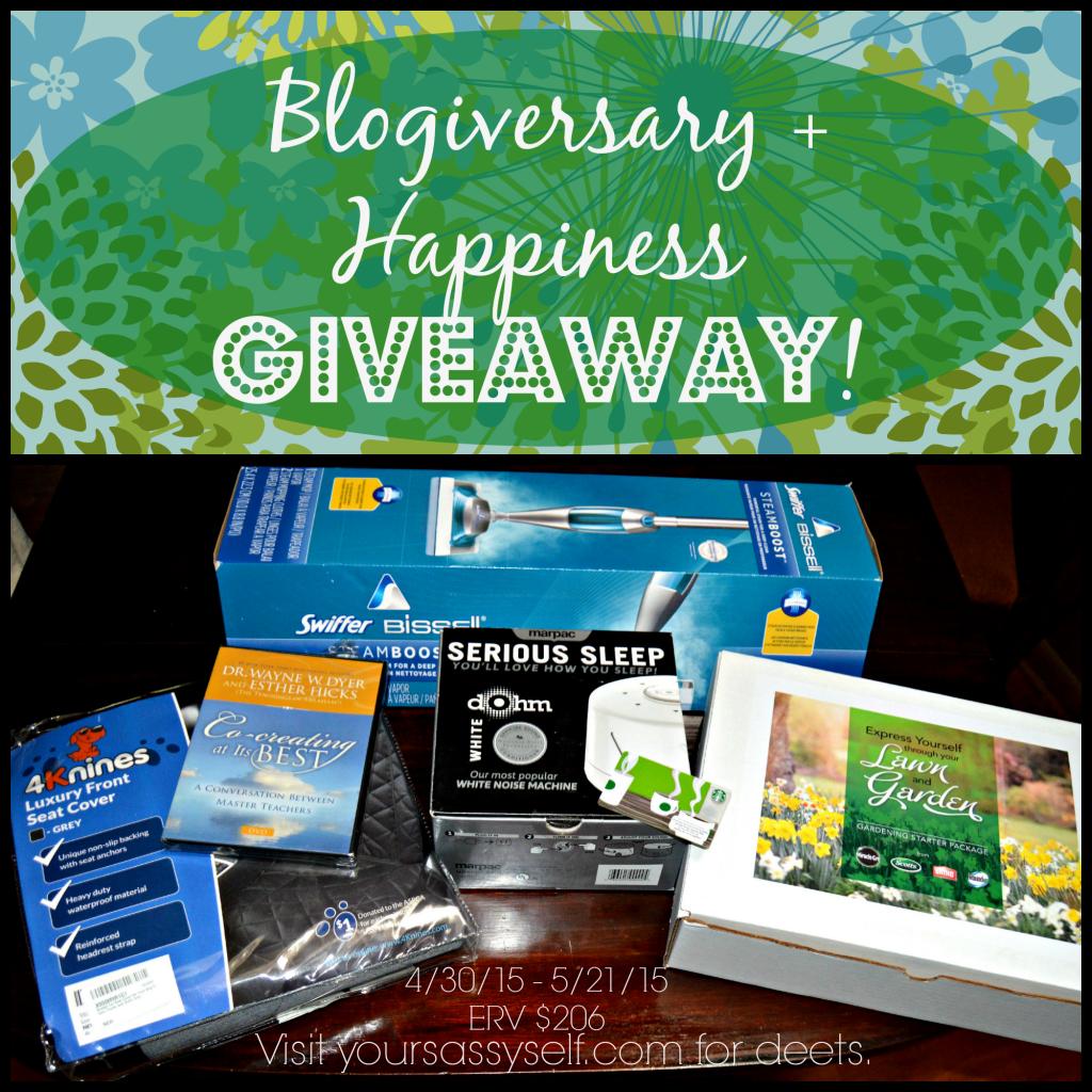 Blogiversary n Happiness Giveaway - yoursassyself.com