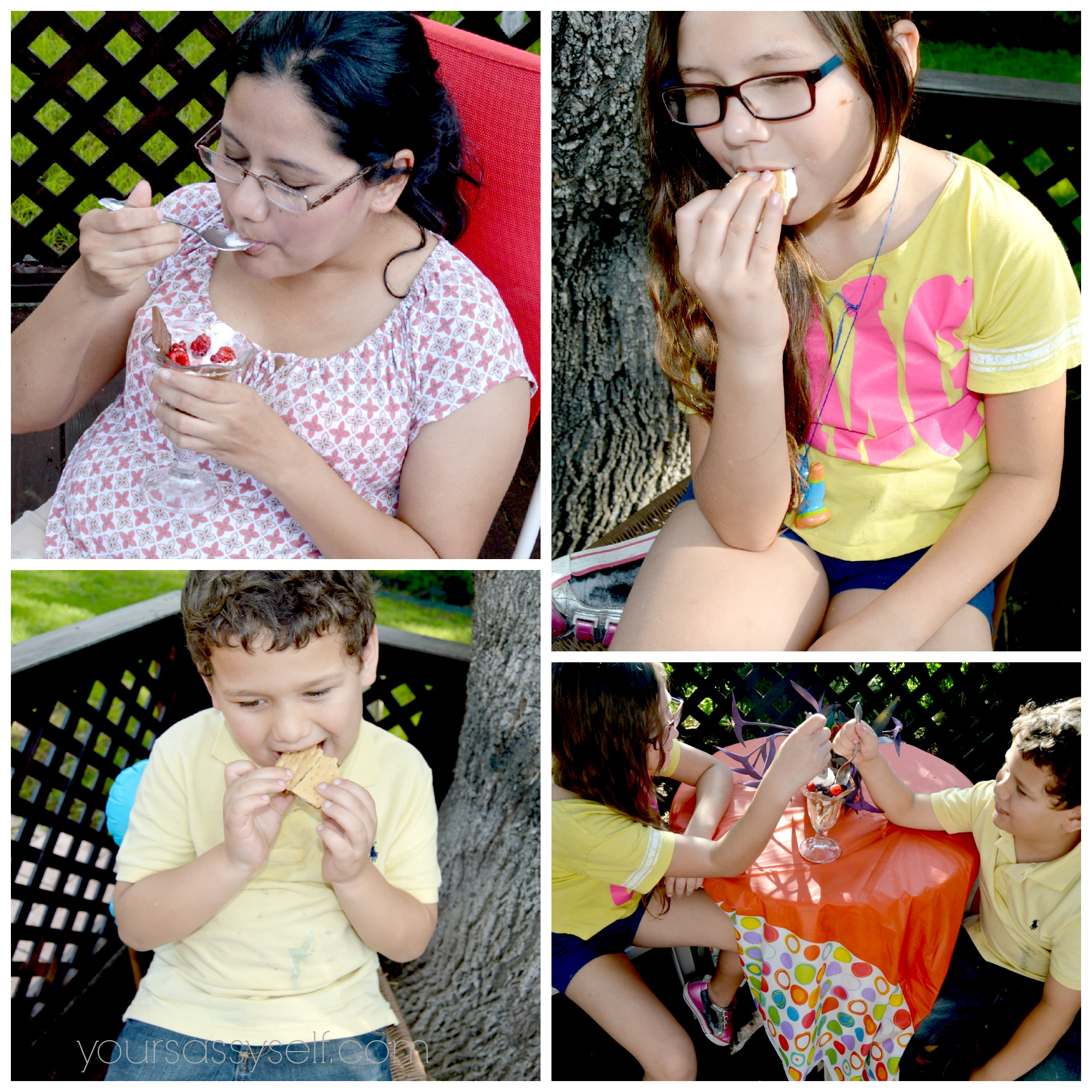 Family Enjoying Berrylicious Smores - yoursassyself.com