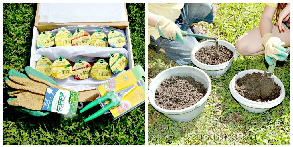 Kids Planting Miracle-Gro Gro-ables - yoursassyself.com