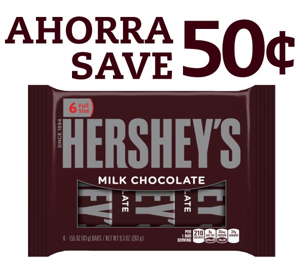 .50 Hersheys Coupon