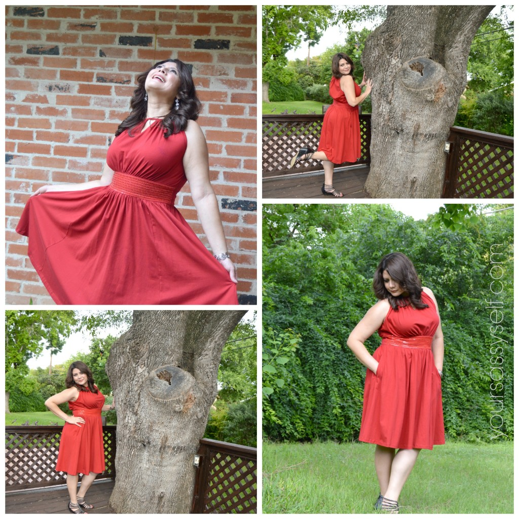 Fun with eShakti red dress - yoursassyself.com