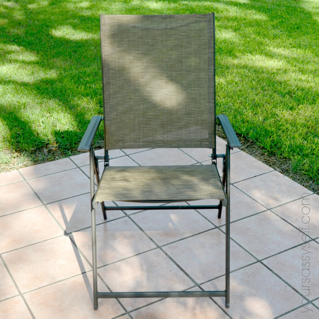 Big Lots Brown Folding Sling Chair - yoursassyself.com