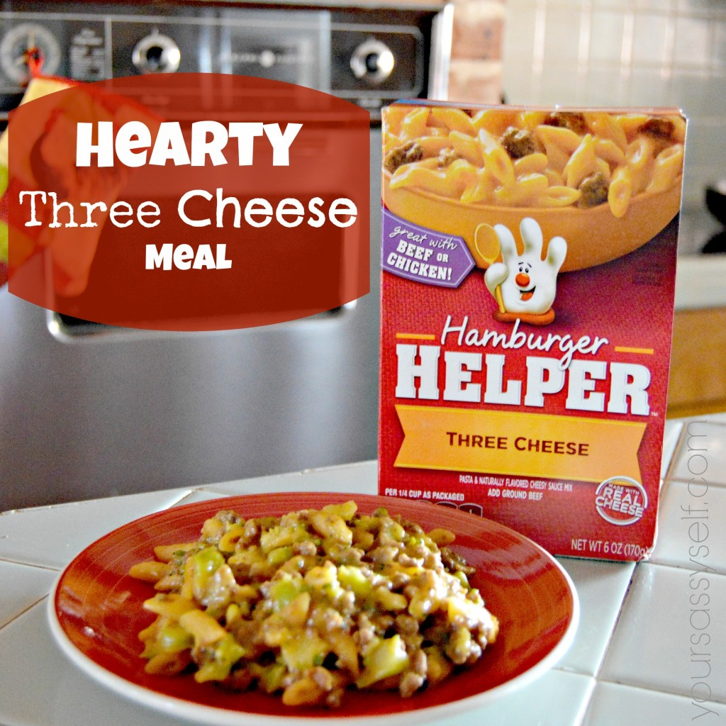 Hearty Three Cheese Meal with Hamburger Helper® - yoursassyself.com