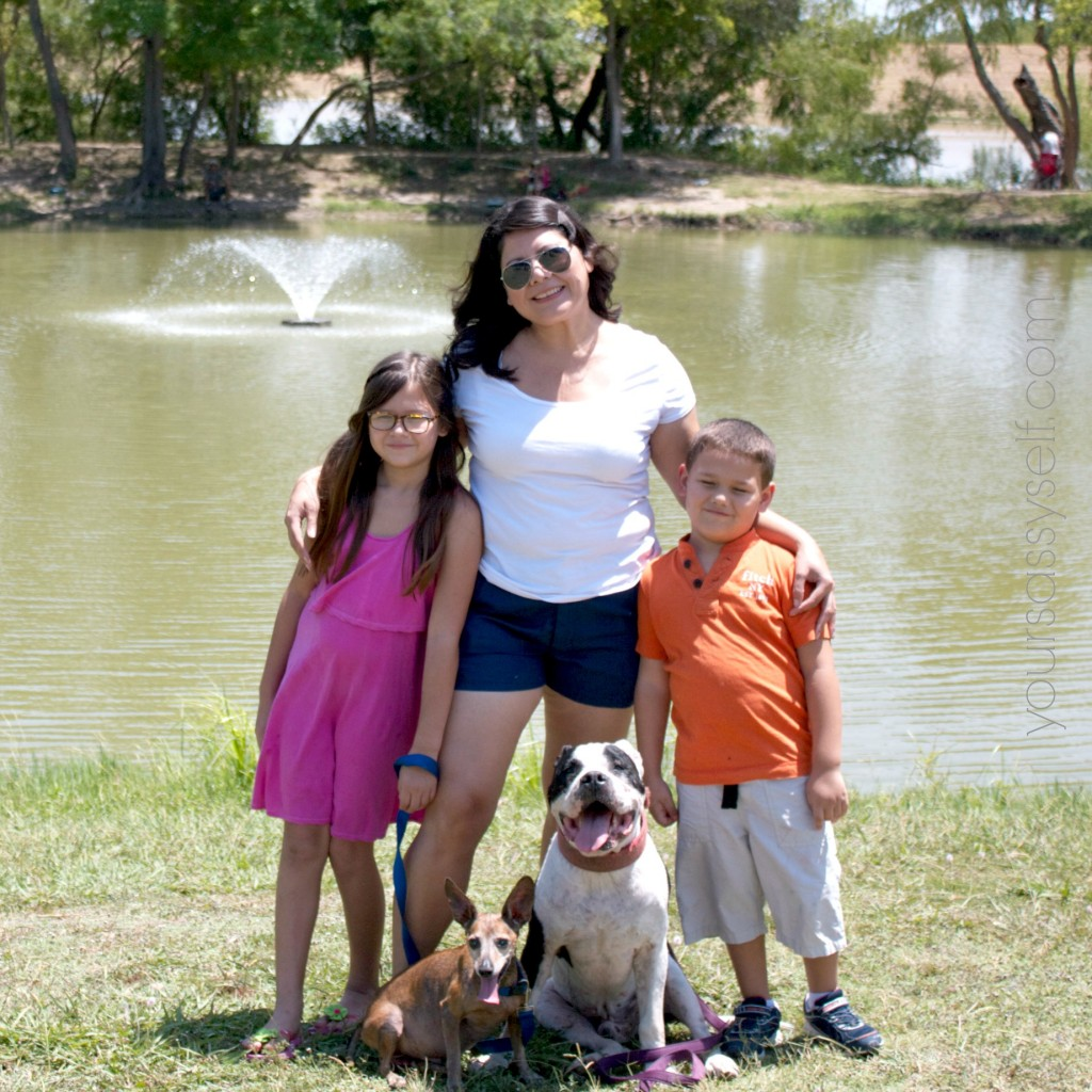Me with Kids and Furbabies at Park - yoursassyself.com