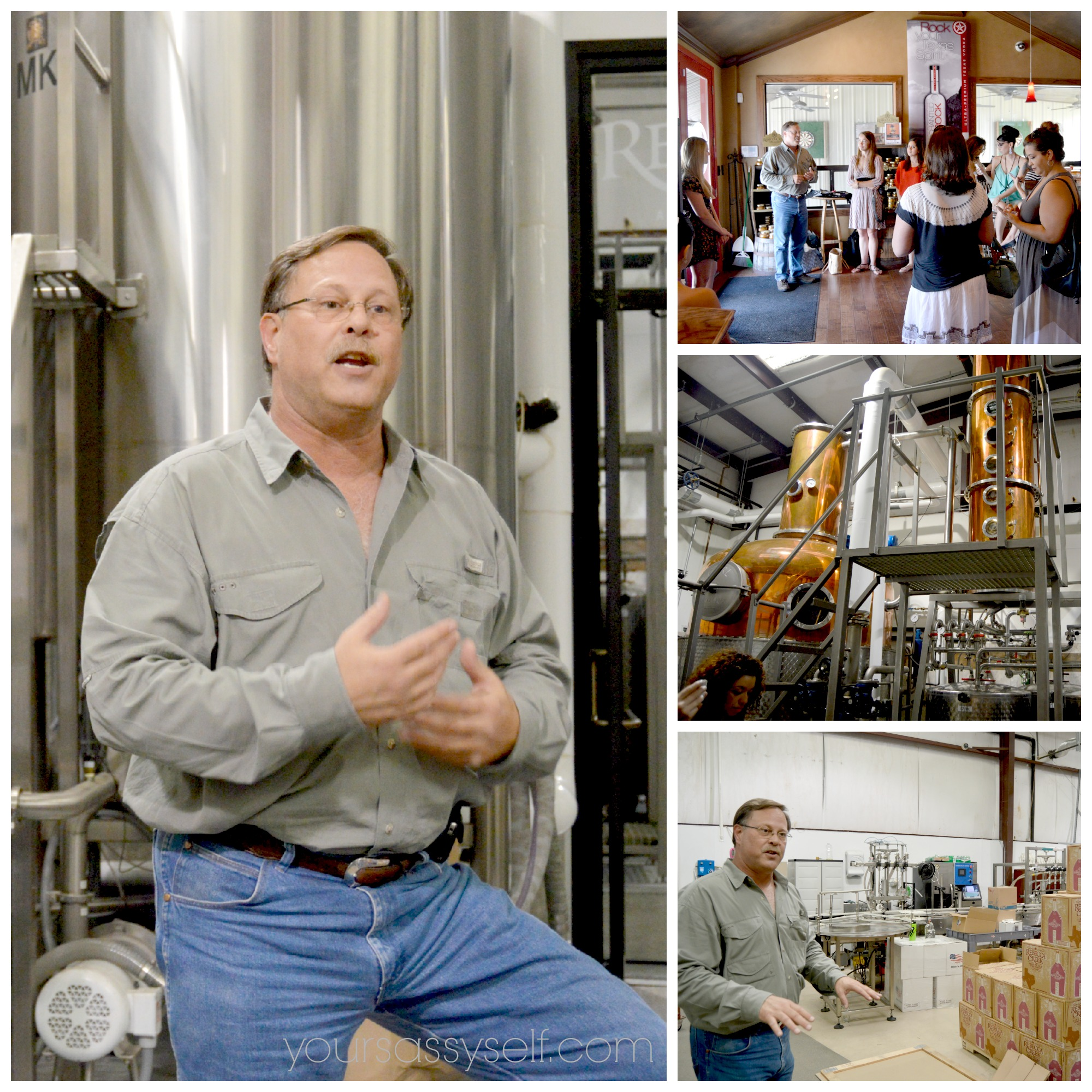SA Whiskey Bloggers Getting Tour by Russell Silverman, VP of Rebecca Creek Distillery - yoursassyself.com