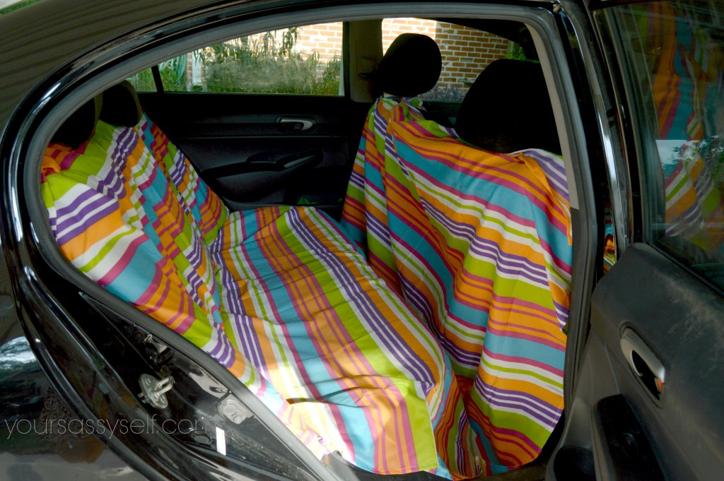 Fabric Placement for Hammock Backseat Cover - yoursassyself.com
