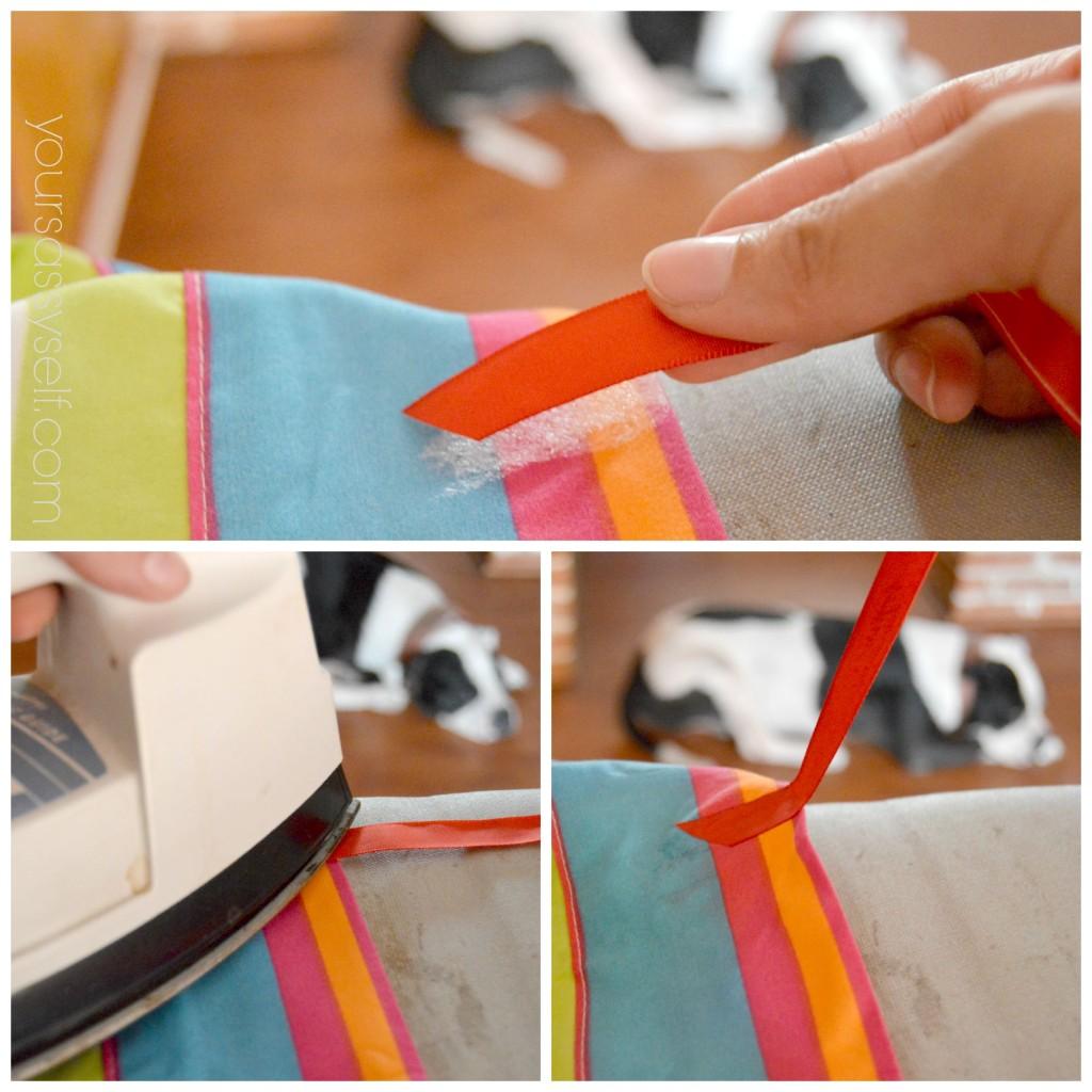 Fusing Ties to No Sew Backseat Cover - yoursassyself.com