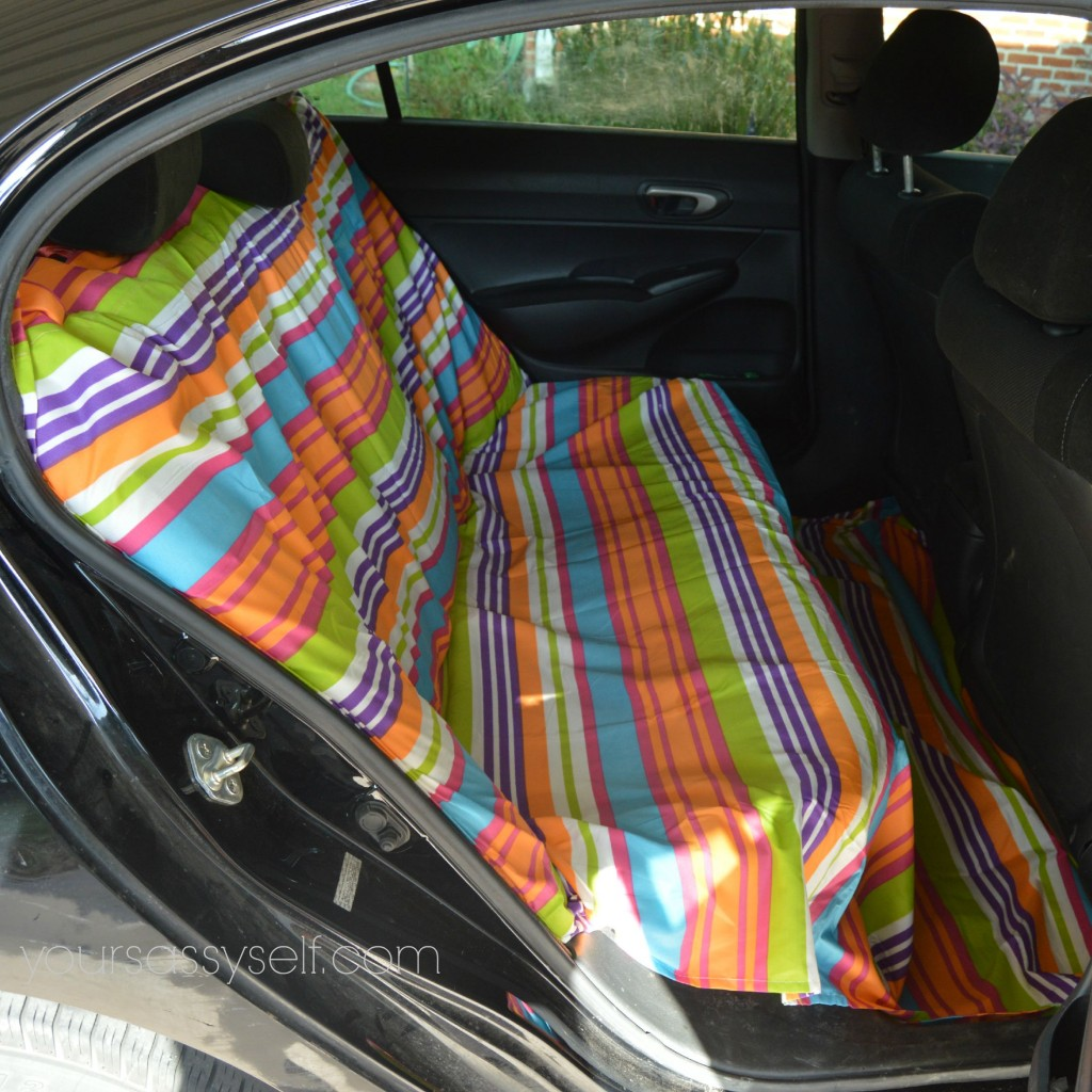 No Sew Backseat Cover - yoursassyself.com