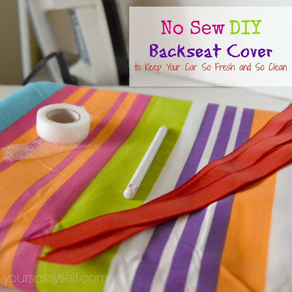No Sew DIY Backseat Cover - yoursassyself.com