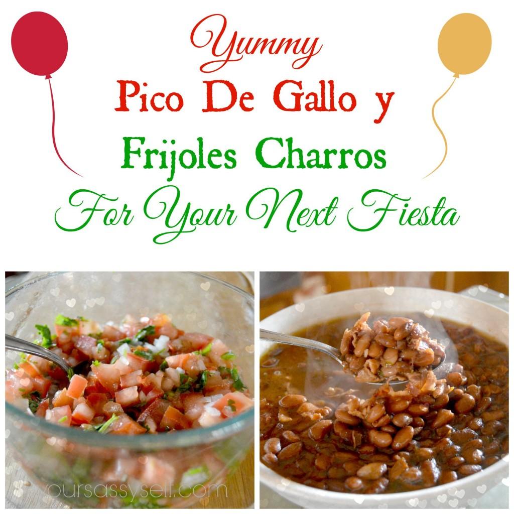 Pico De Gallo y Frijoles Charros - yoursassyself.com