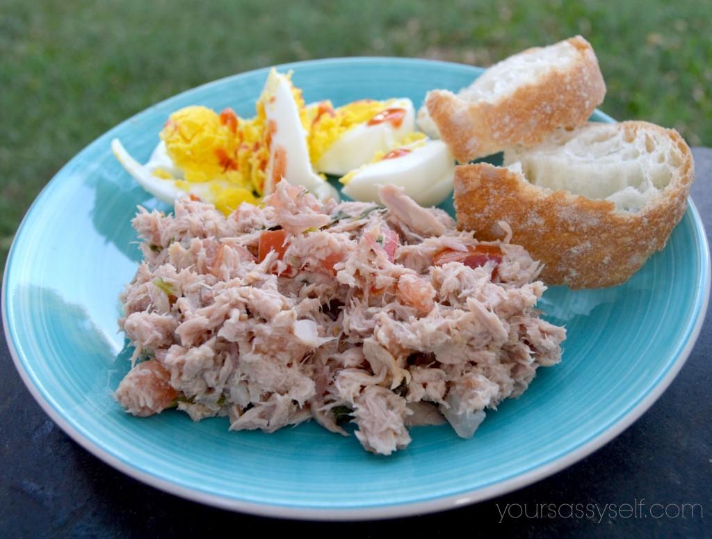 Balanced Tuna Egg Plate - yoursassyself.com