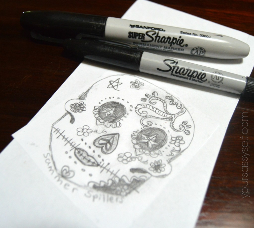 Markers with Cut out Dia de los Muertos Calavera - yoursassyself.com