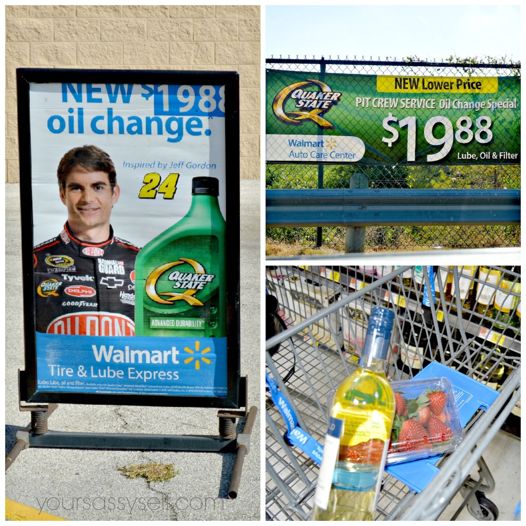 Shopping and Quaker State Oil at Walmart - yoursassyself.com