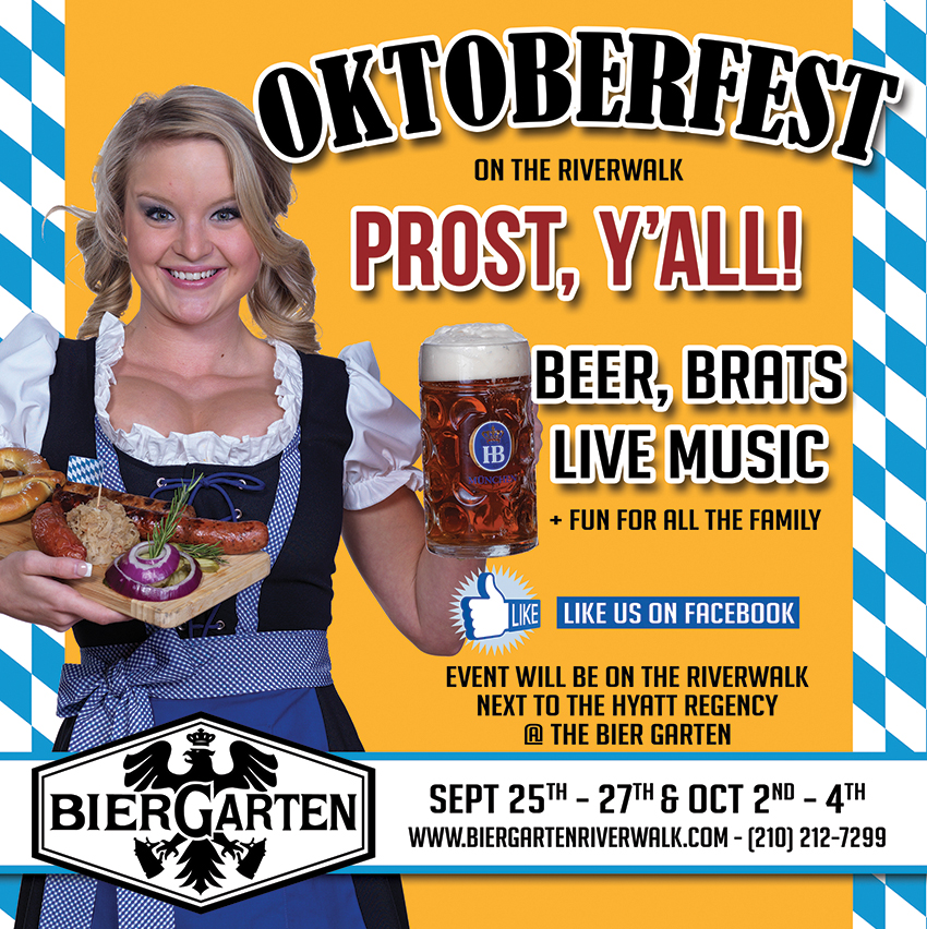 Oktoberfest Returns to the Bier Garten Riverwalk