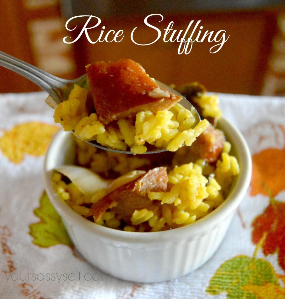 Rice Stuffing - yoursassyself.com