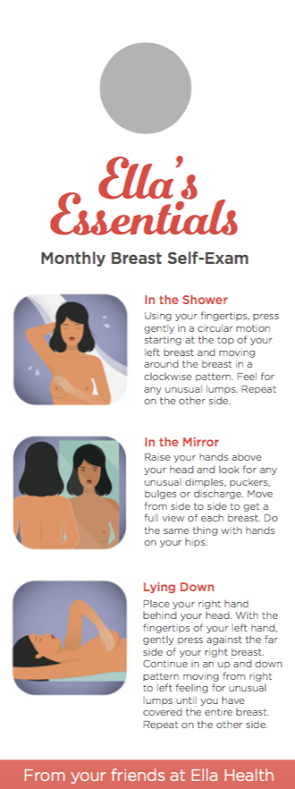 Breast self-exam instructions - yoursassyself.com