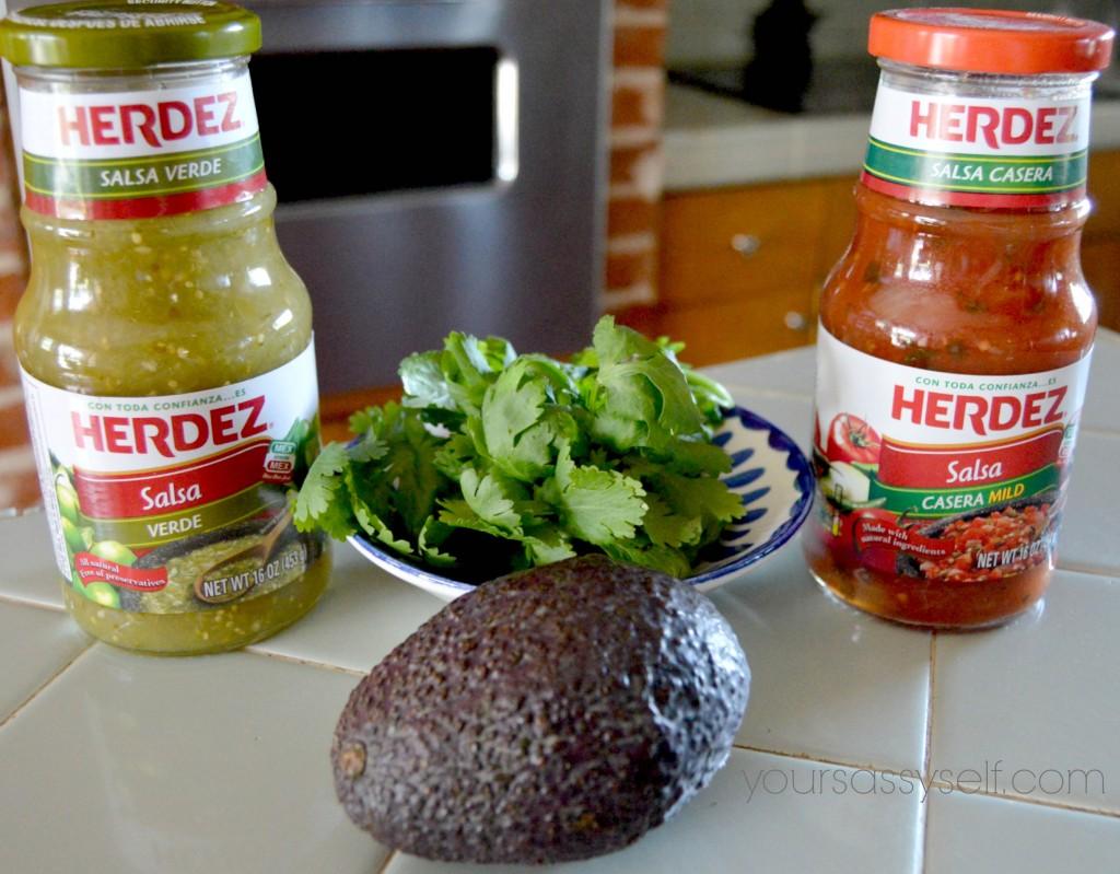 Avocado Salsa ingredients - yoursassyself.com
