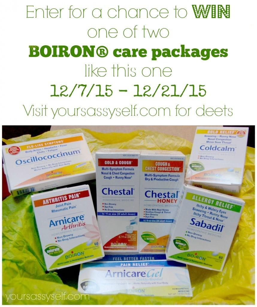 Boiron Giveaway 2015 - yoursassyself.com