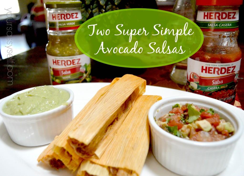 Simple Avocado Salsas - yoursassyself.com