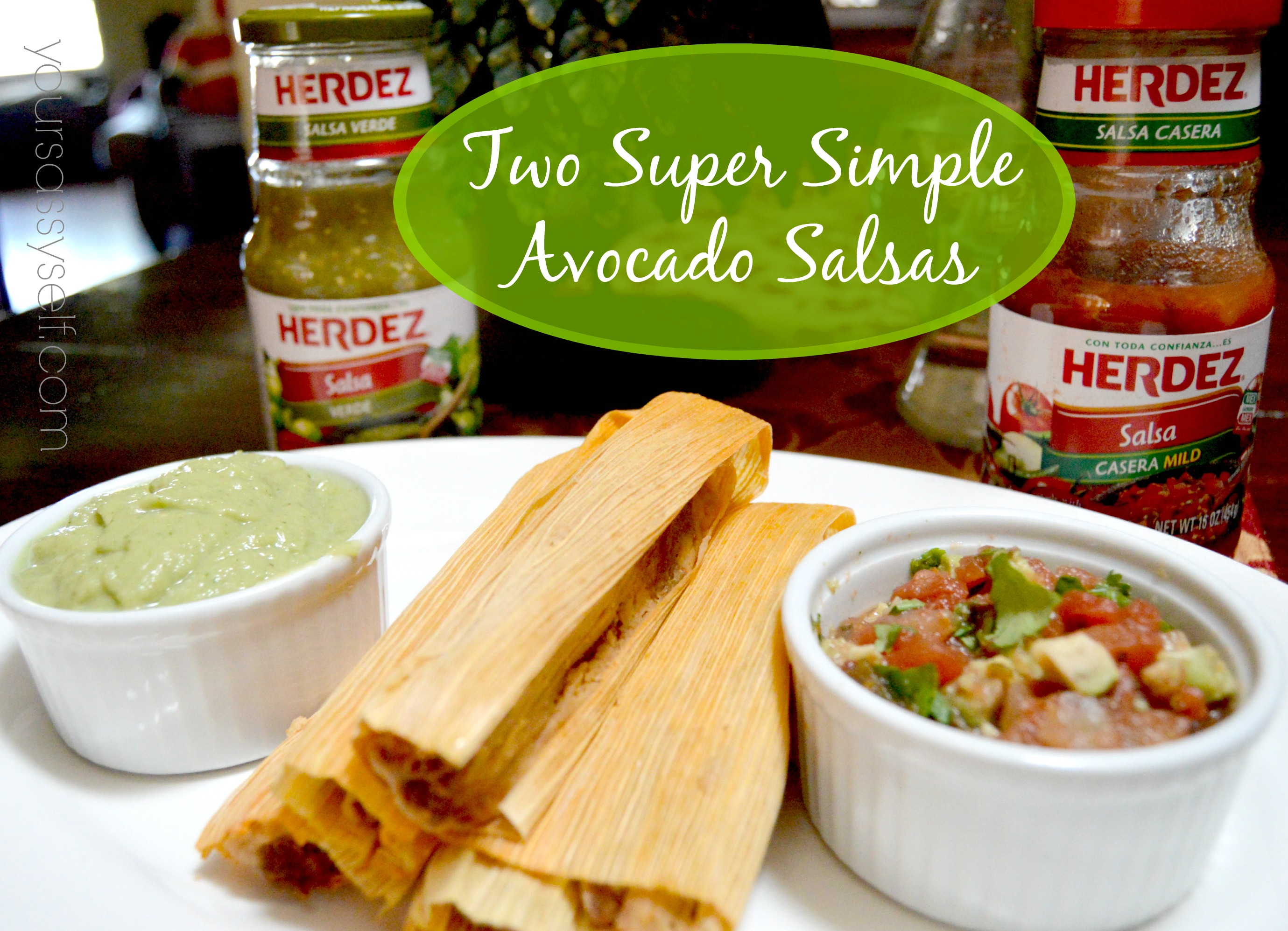 Two Super Simple Avocado Salsas for Las Posadas
