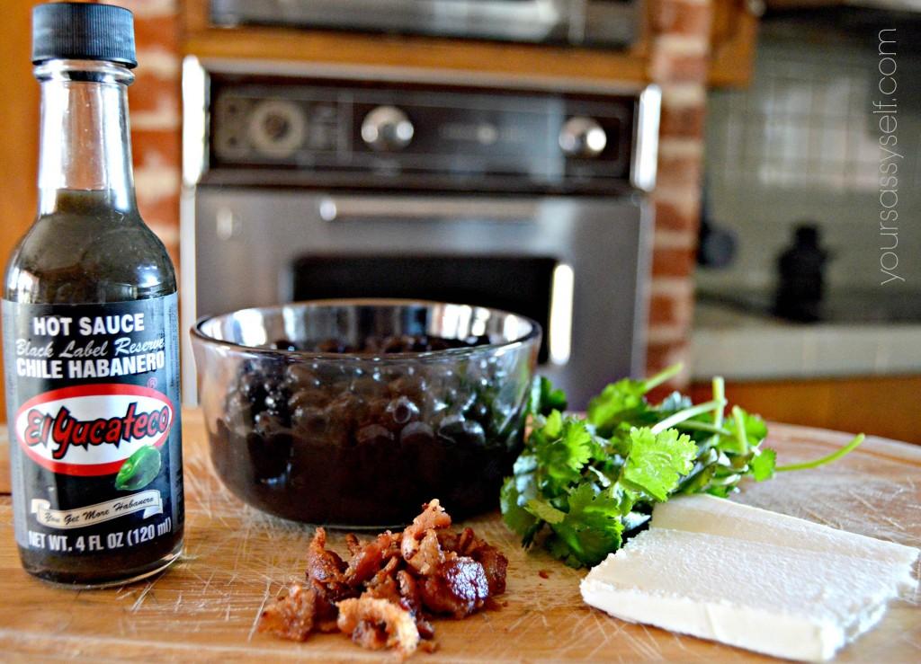 Black Bean Dip Ingredients - yoursassyself.com
