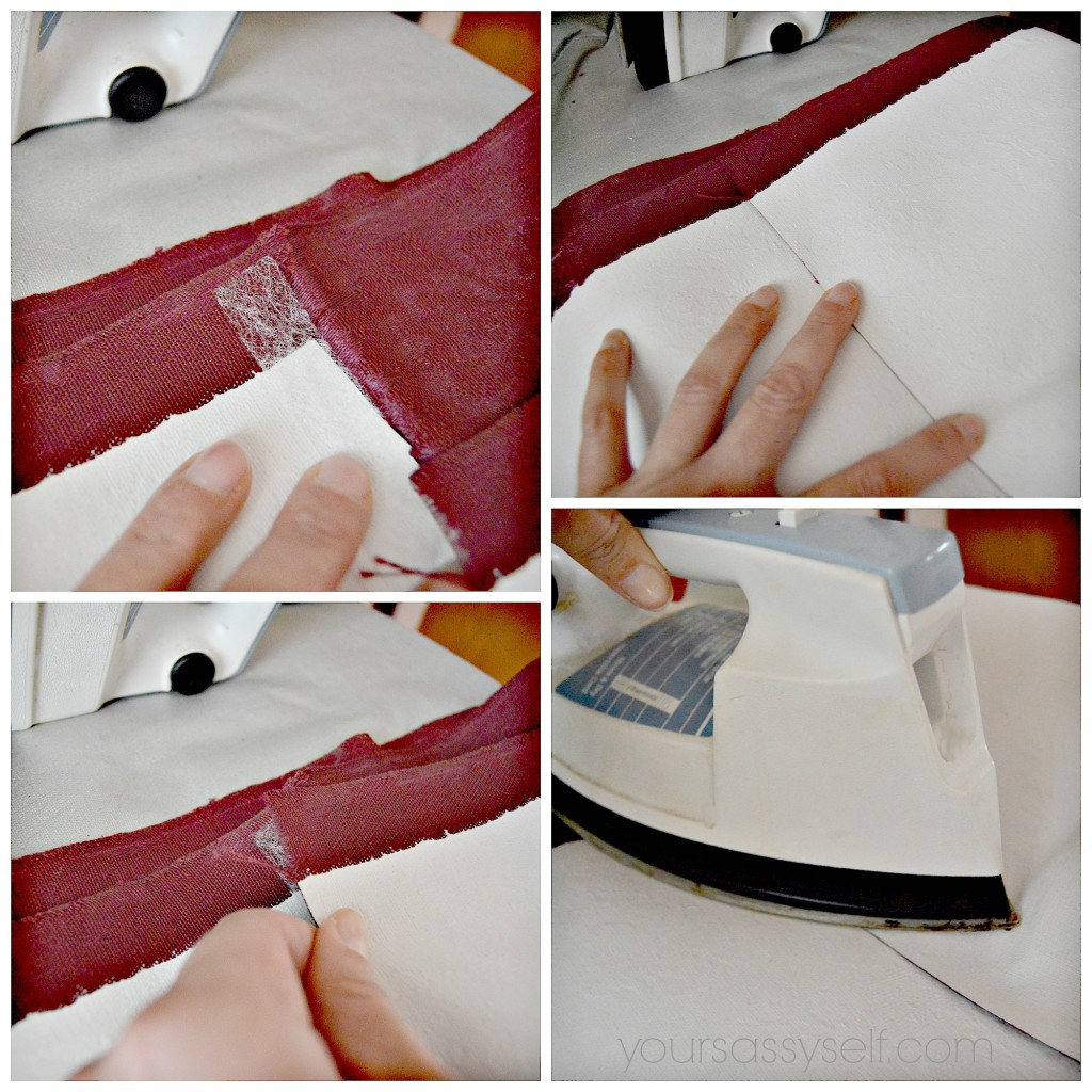 Ironing on Fusible Bonding Web - yoursassyself.com