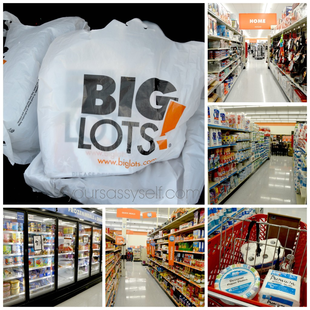 Shopping at Big Lots - yoursassyself.com