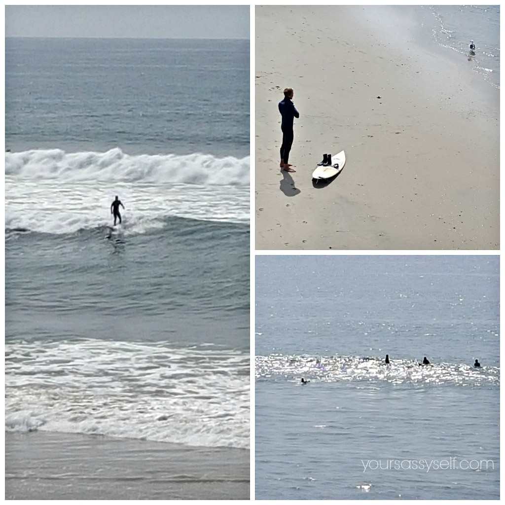 Surfers on Huntington Beach - yoursassyself.com