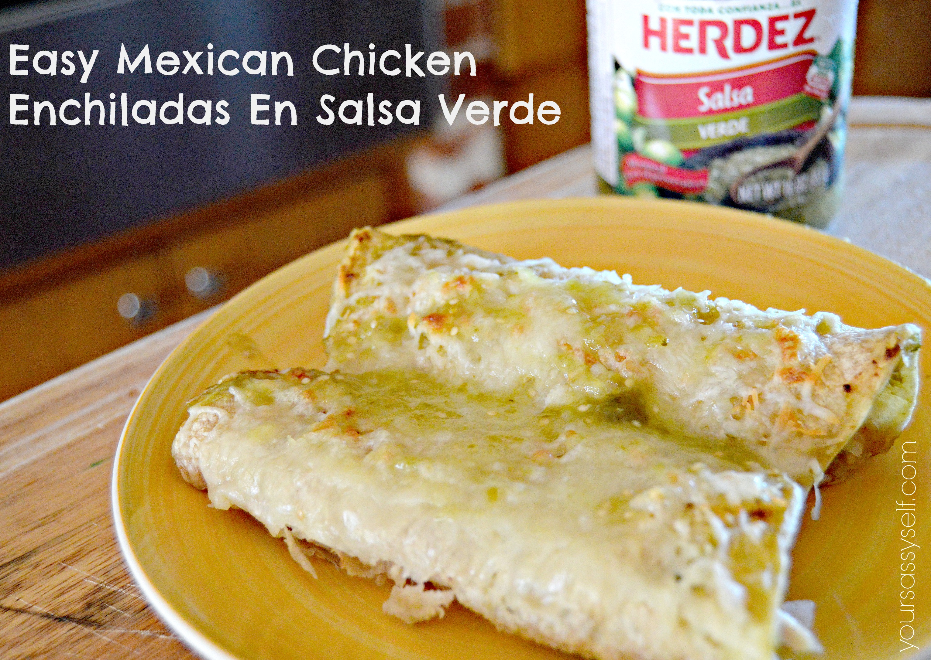 Easy Mexican Chicken Enchiladas En Salsa Verde