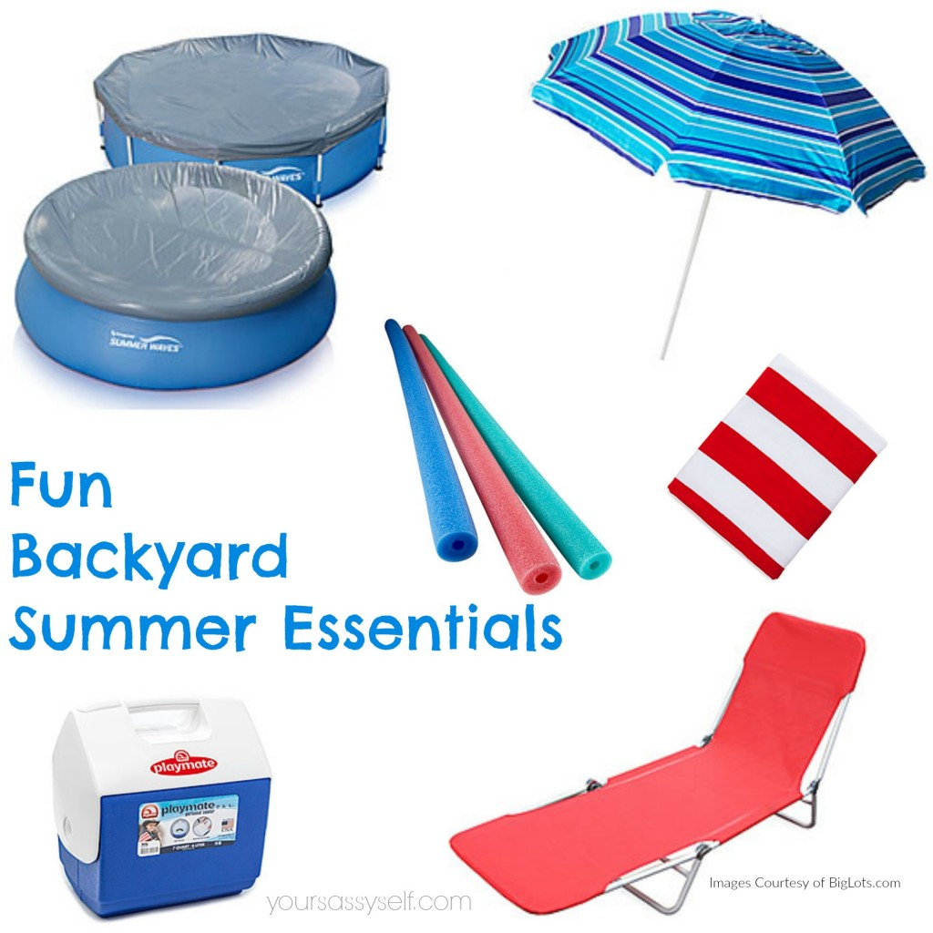 Fun Backyard Summer Essentials - yoursassyself.com