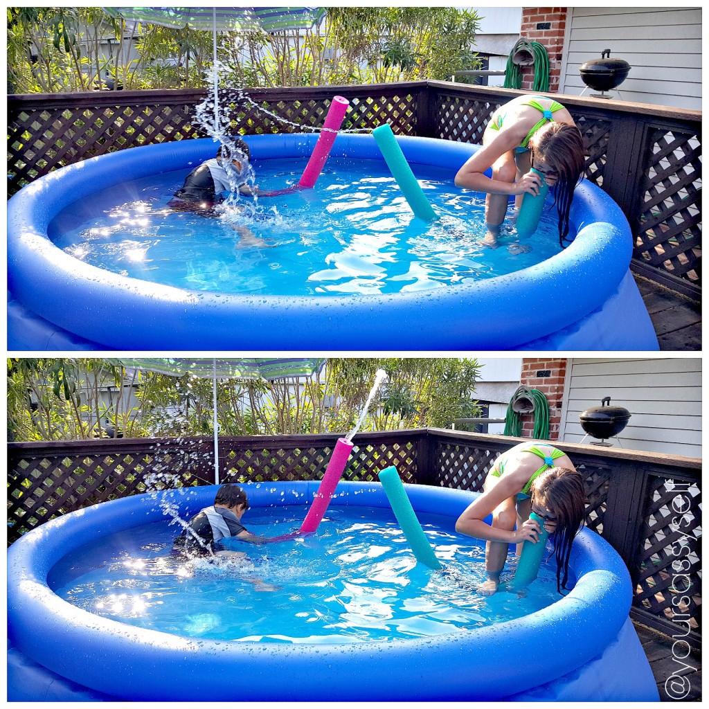 Noodle fun in the pool - yoursassyself.com