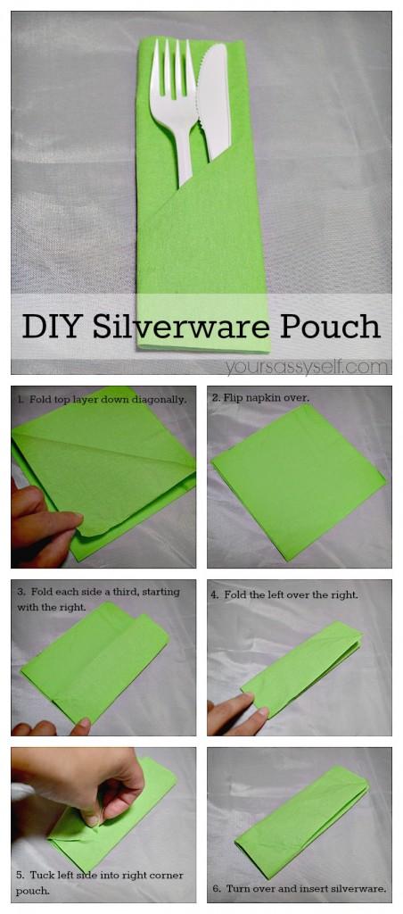 Napkin Fold - DIY Silverware Pouch - yoursassyself.com