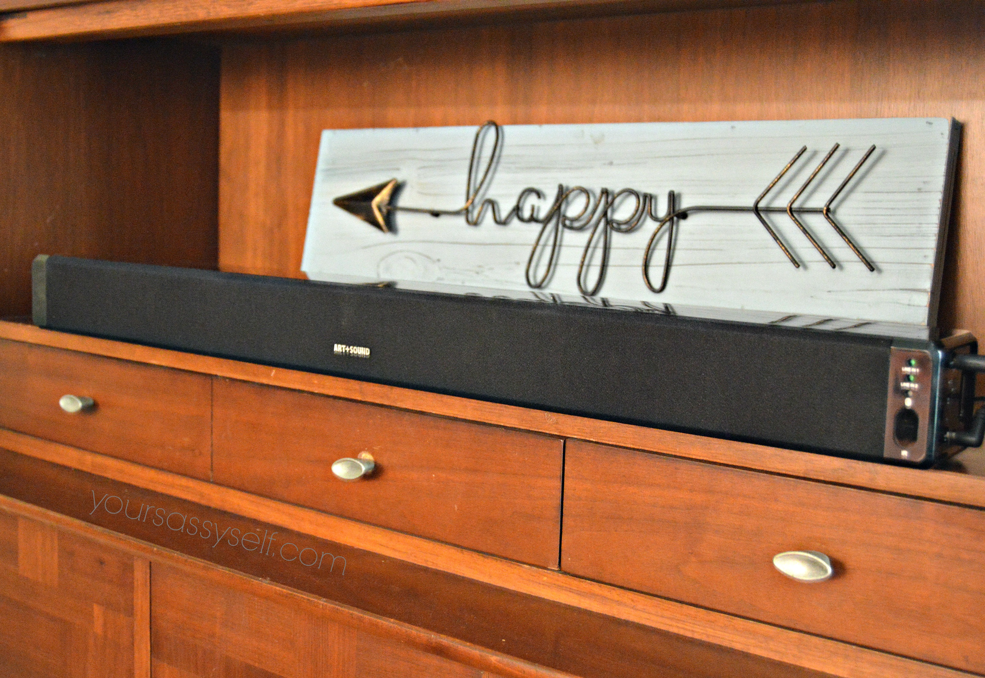 Happy Arrow Decor over Sound Bar - yoursassyself.com