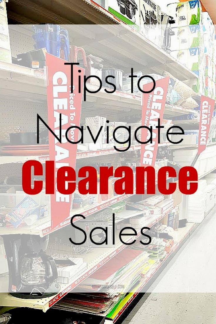 Tips to Navigate Clearance Sales - yoursassyself.com