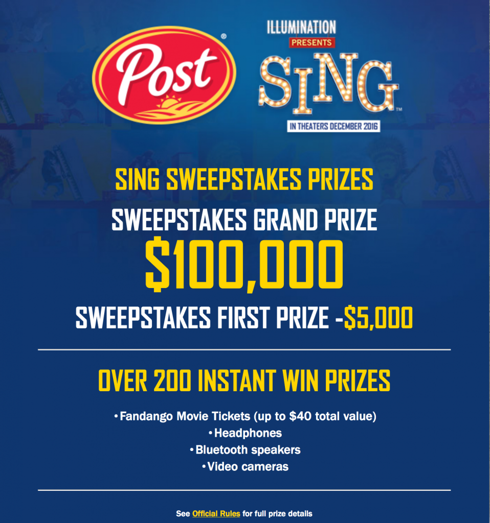 Sing Movie Sweepstakes - yoursassyself.com