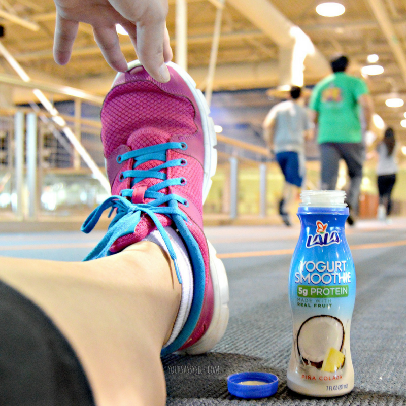 Exercise Recovery with LALA® Yogurt Smoothie - yoursassyself.com