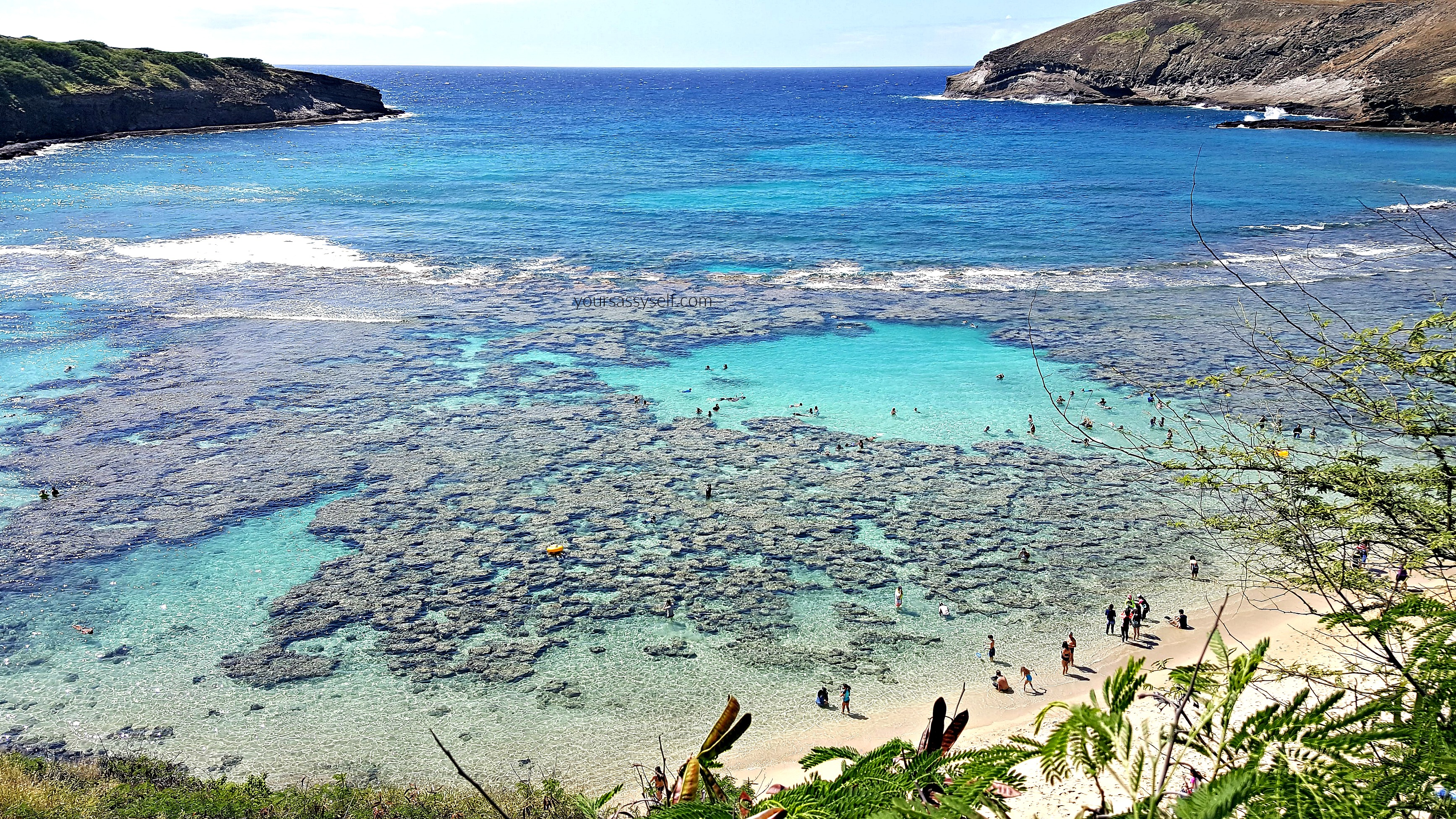 View of Hanauma Bay Reefs - yoursassyself.com