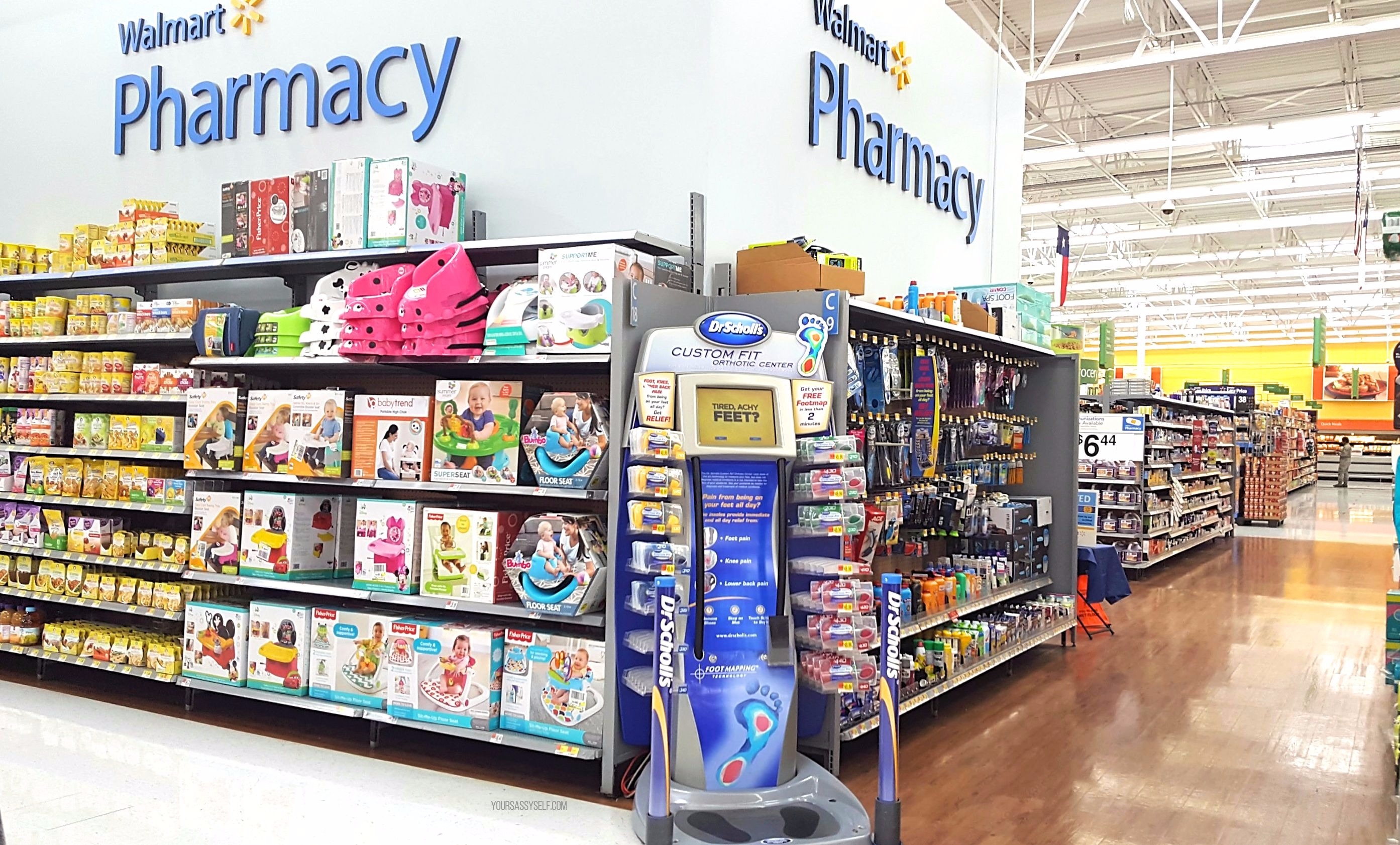 Dr Scholl's® Custom Fit® kiosk at Walmart - yoursassyselfcom