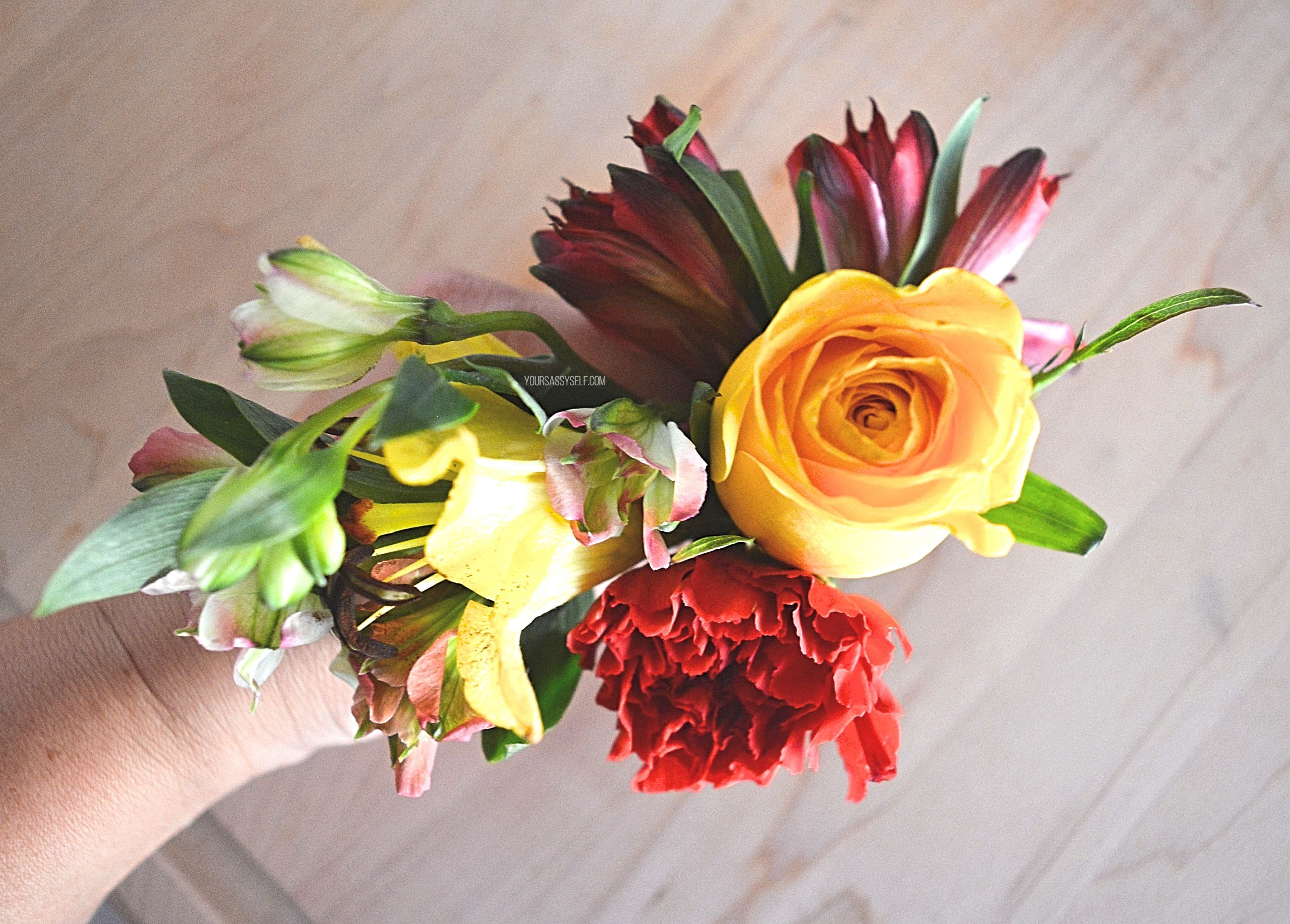 Summer flower bouquet - yoursassyself.com