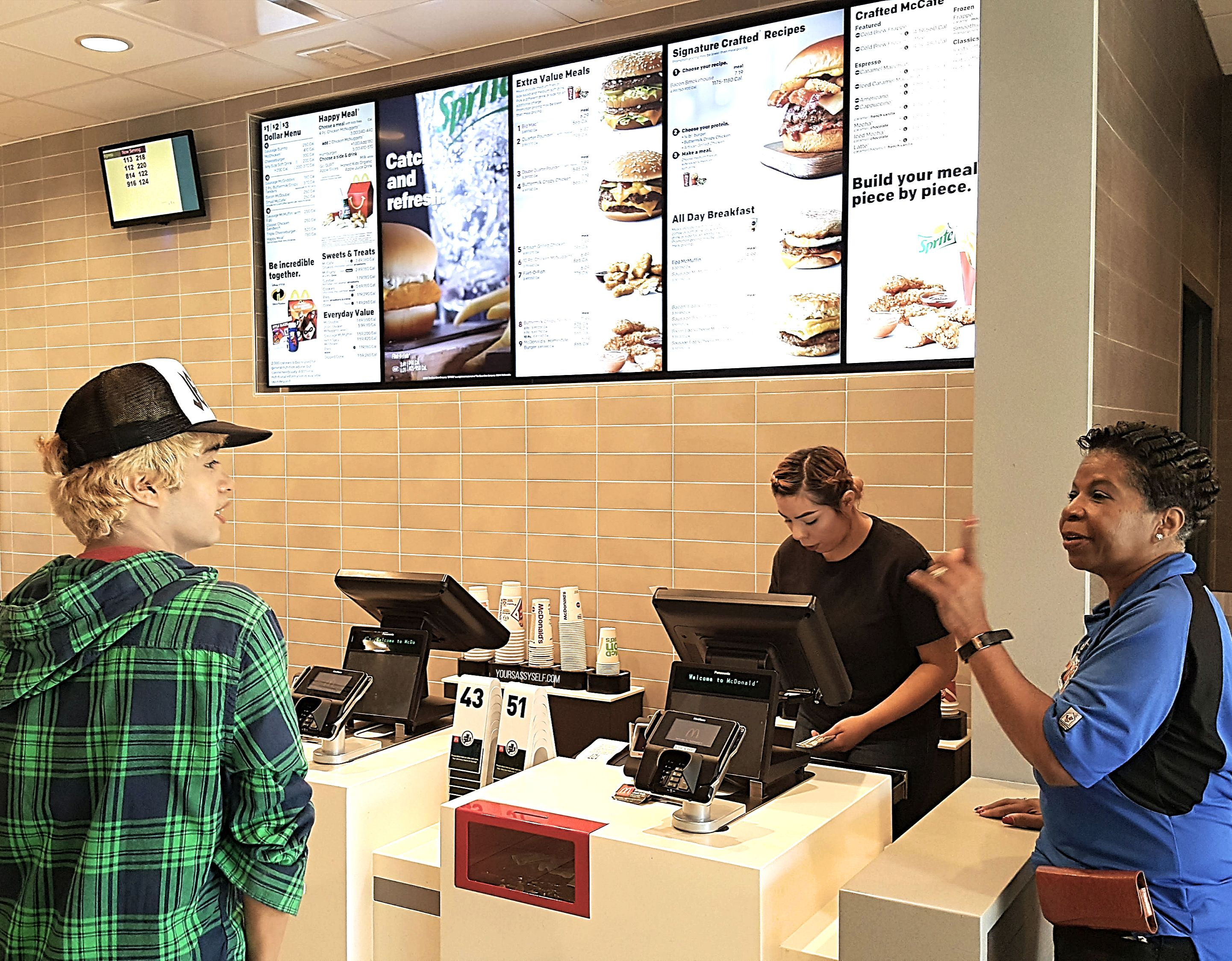 Ordering at McDonald's Modernized Counter - yoursassyself.com