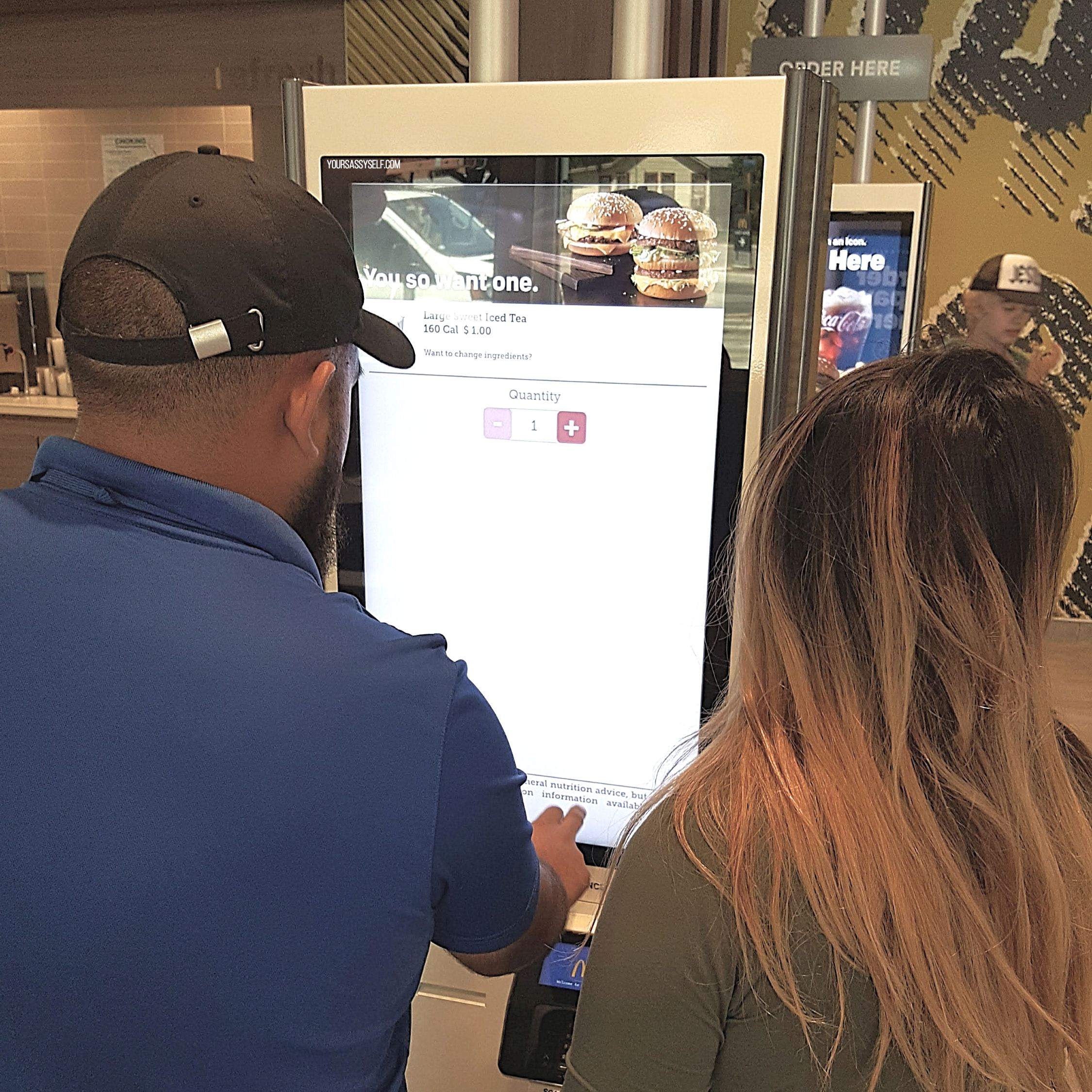 Couple ordering at McDonald's Digital Kiosk - yoursassyself.com