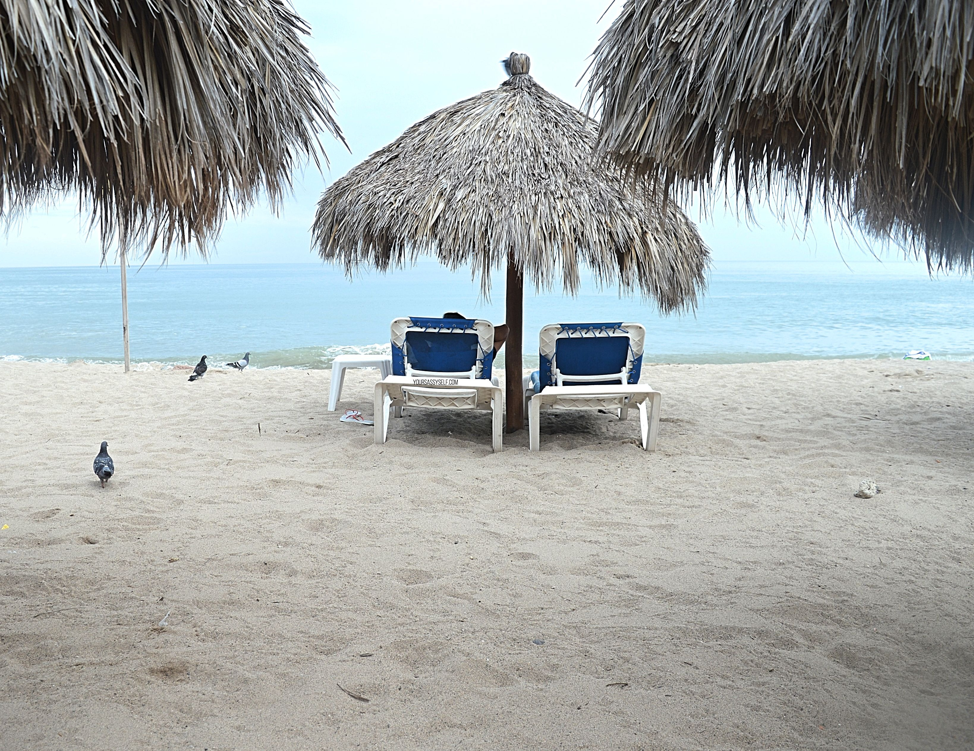 Beach Palapas in Puerto Vallarta-yoursassyself.com