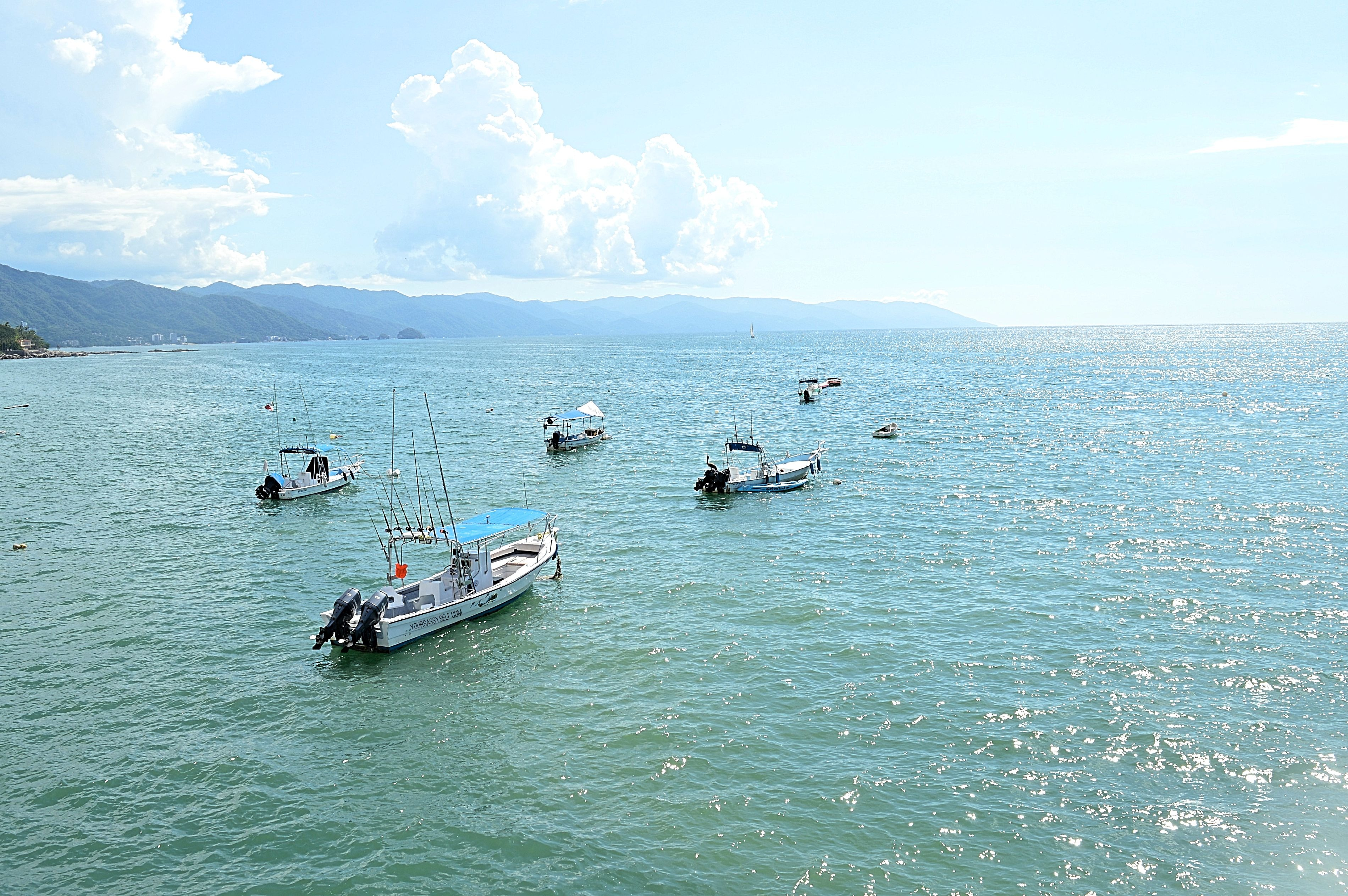 Boats off waters in Puerto Vallarta - yoursassyself.com