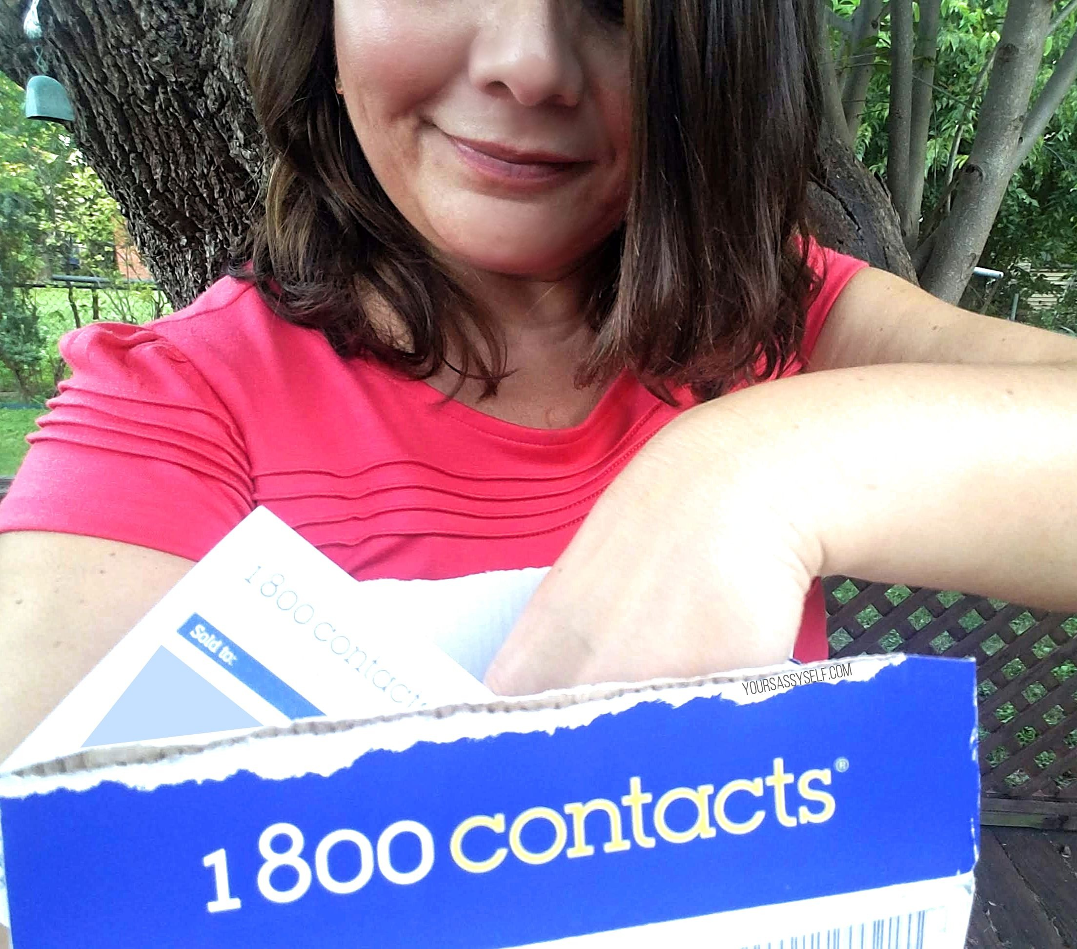 Unboxing 1-800-Contacts order - yoursassyself.com