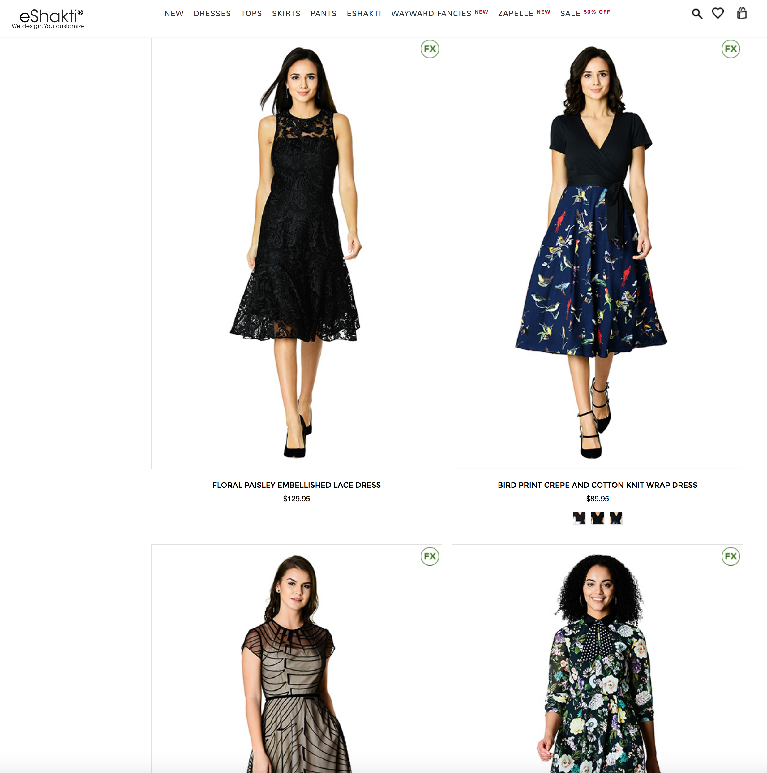 eShakti FX dresses - yoursassyself.com