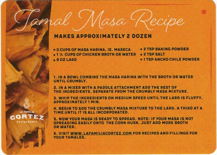 la familia cortez tamale masa recipe - yoursassyself.com
