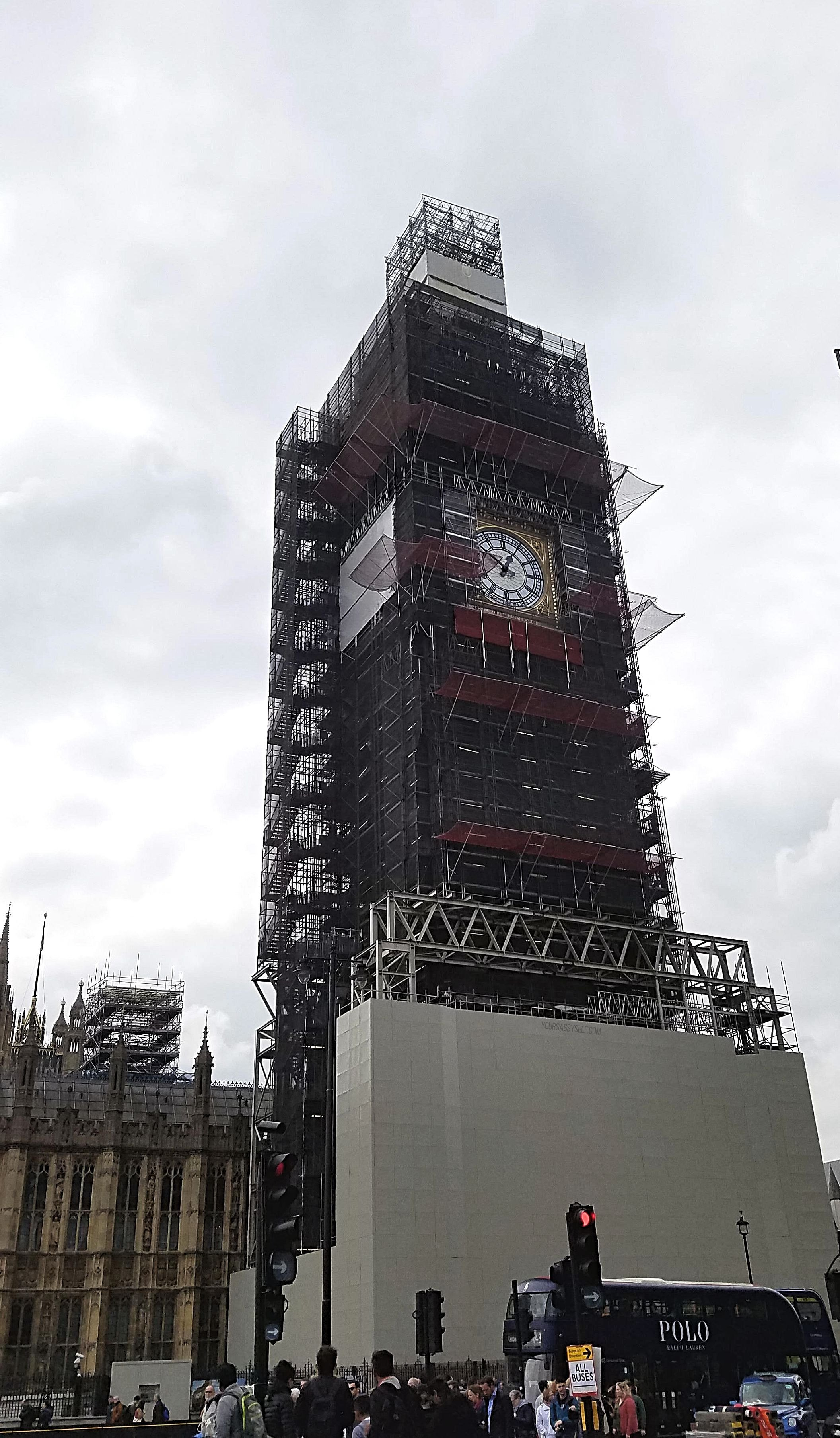 Big Ben Under Construction - yoursassyself.com